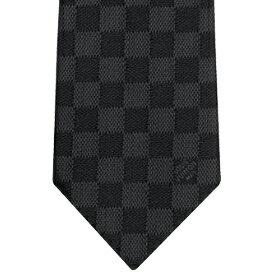 LOUIS VUITTON NECKTIEルイヴィトン ネクタイブラック×ダークグレーブロック ダミエ チェッククラヴァット ダミエ クラシックノワール ルイビトンネイビー ブルー ライトブルー ライトピンクメンズスーツに似合う スーツスタイル