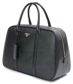 PRADA handbags Boston bag Prada black NERO saffiano travel embossed nylon BOSTON BAG x embossed calf bag bag bag VS0069 saffiano travel triangle logo plate