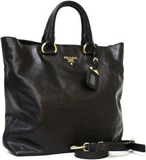 f49c89db1623 kaminorth shop  PRADA Prada shoulder tote bag soft calf black NERO blue  dark brown light grey beige BN1713 2WAY shoulder bag bag bag bag BAG