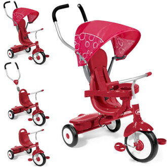 RADIO FLYER radio flyer Trikes & Trike Bikes & bike Deluxe Steer & Stroll Trike # 811 grows 4 proper use 4-in-1 Trike red awning with front-wheel operation is possible with a push handle 3-wheelers The Ultimate Grow-With-Me Trike