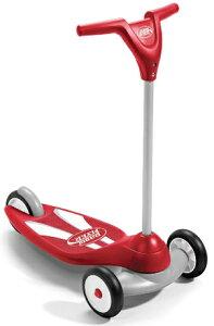 RADIO FLYER ラジオフライヤーRide Ons 乗用玩具三輪キックスクーターバイクバランスを養うにはコレ! レッド前輪が二輪で安定感抜群折りたたんで収納かわいい3輪のキックボードキックボード