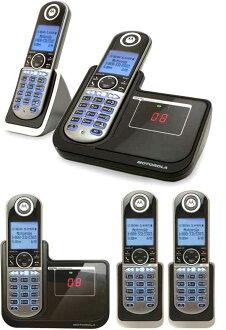 Motorola 블루 LCD 디스플레이 롤러 디지털 무선 전화기 도청 될 수 없는 선명한 음성 통화가 가능한 DECT6.0 채택 디지털 부재중 전화 기능이 있는 전화기 부모가 제트 그것 겸용 무선 자기 블랙 자식 기 증설 가능