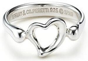 Tiffany&Co. ティファニー 指輪オープンハートリング ミニシルバースターリング シルバーアクセサリーOPEN HEART RING MINI4.5(約8号) 5.5(約10号) 6.0(約11号)