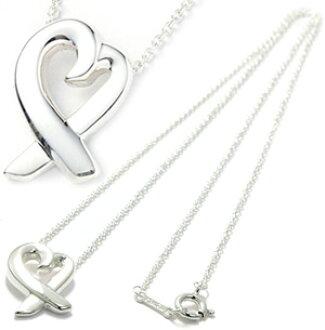 d8126176e Tiffany &Co. Tiffany T CO 925 Silver Paloma Picasso loving heart pendant  necklace loving heart LOVING HEART silver chain sterling silver PENDANT  NECKLACE ...