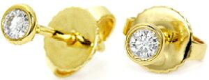 Tiffany&Co. ティファニーダイヤモンド イエローゴールドピアスバイザヤード 0.05ct ペアで合わせて0.1カラット K18YGエルサ ペレッティ アクセサリー ダイアモンドBY THE YARD pierced earring