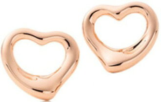 Kaminorth Tiffany Co Open Heart Earrings 18 K Rose Gold Elsa Peretti Herart 11 Mm Pierced Earring Original Designs Copyrighted By