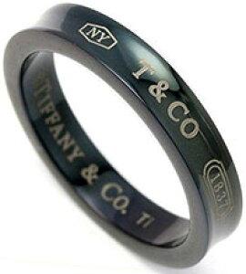 Tiffany&Co. ティファニー 指輪1837 ミッドナイト ブラックチタンナロー リングアクセサリーTitanium BLACK RING4.0 (約7号)〜 10.0(約21号)ティファニーのロゴと創設年が刻印された1837コレクション