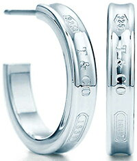 Tiffany&Co. ティファニーナローフープピアス スモールスターリング シルバー9251837 T&COティファニーの創業年を刻印enchant heart pierced earring