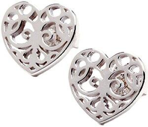 Tiffany&Co. ティファニーエンチャント ハートピアススターリング シルバー92519世紀の庭園の門扉に見られる優美な装飾からインスパイアenchant heart pierced earring