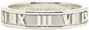 Tiffany&Co. ティファニー 指輪アトラスナローリング浮び上るローマ数字スターリングシルバー アクセサリーATLAS NARROW RINGペアリングとしてもオススメUS4.0〜11.5(日本サイズ約9号〜約25号)