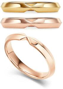 Tiffany&Co. ティファニー V型18K指輪ネスティングナローバンドリングゴールド ローズゴールド NARROWRING#4-9 シンプルラインエンゲージメントリングと組み合わせてもぴったりのデザインペアリン
