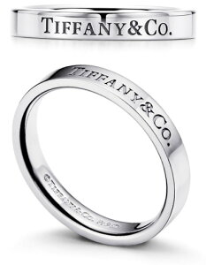 Tiffany&Co. ティファニー 指輪ロゴ刻印プラチナバンドリングシルバー アクセサリー婚約&結婚指輪としてもオススメエンゲージメント ウェディングバンドとしてもJEWELRY #030130COBANDRING