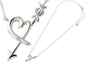 TIFFANY&Co. ティファニーオープンハートに矢が刺さったデザインペンダントネックレスハート& アローペンダント2人の愛を重ねる スターリングシルバー925パロマピカソグラフィティ PENDANT NECK