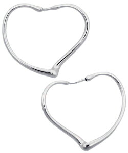 Tiffany&Co. ティファニーオープンハートフープピアス ミディアムエルサペレッティ スターリング シルバー925OPEN HEART HOOP pierced earring #MOriginal designs copyrighted by Elsa Peretti