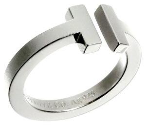 Tiffany&Co. ティファニーT型指輪 スクエアリングペアリング ステンレススチールスクエアT アクセサリーT-RING #004105約 7号8号9号10号11号13号14号16号17号18号19号スターリングシルバー925 TSQUARERING