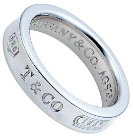 Tiffany&Co. ティファニースターリングシルバー925 ナローリング指本のアクセサリー 指輪シンプルスタイル4mm 1837 創業年刻印 T&CO THIN #040130
