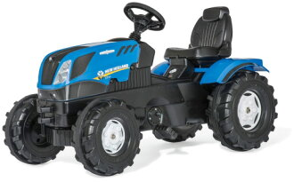 Style TOYS KID'S TRACK for the Lolly kids series truck loader agriculture that a pedal-type, is usable in the exercise of the bicycle of the toy popularity for the toy pedal Carlo lied is new Holland blue X black tractor kids truck child made in Germany