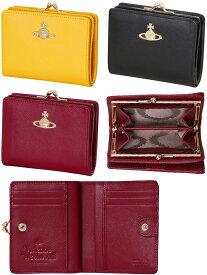 d90d1e5f0f7e Vivienne Westwoodヴィヴィアンウエストウッドがま口小銭入れ付き二つ折り財布オーブロゴプレートブラック