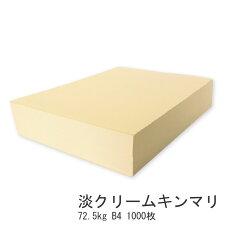 淡クリームキンマリ72.5kgB41000枚【書籍用紙北越紀州製紙上質紙原稿用紙】