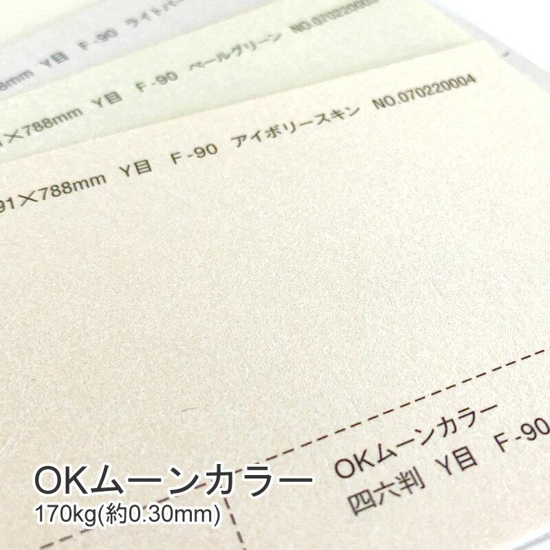 【特殊紙】OKムーンカラー 170kg(0.30mm)【ファンシーペーパー 印刷用紙 パール加工 ホットスタンプ OKフロート キラキラ メタリックペーパー】