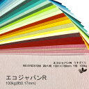 【特殊紙】エコジャパンR 100kg(0.17mm) 選べる45色(あ〜た行)【ファンシーペーパー 印刷用紙 古紙配合10% 型押し模様…