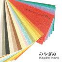 【特殊紙】みやぎぬ 90kg(0.14mm)選べる20色【ファンシーペーパー 印刷用紙 型押し模様 エンボス 和風】