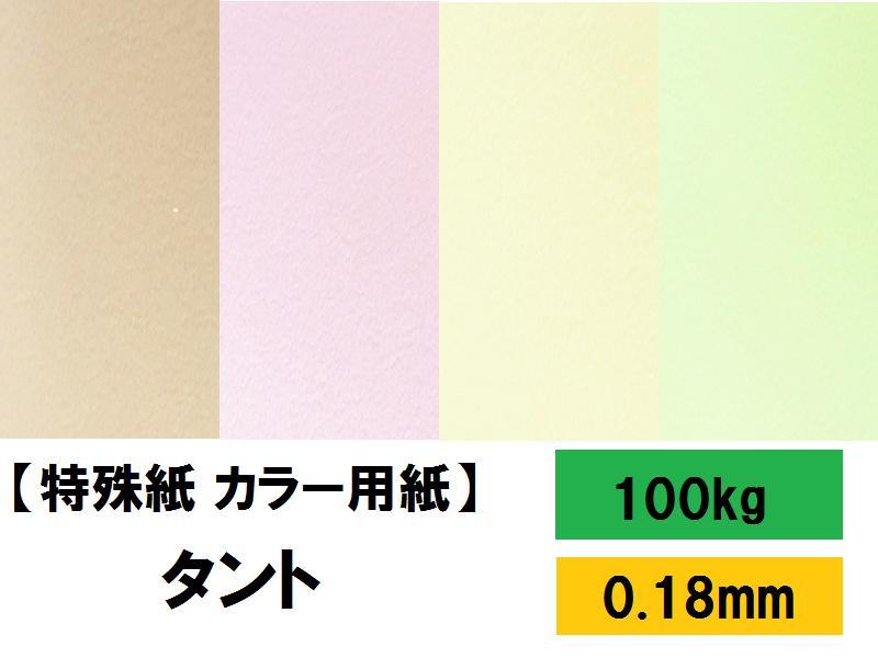 【特殊紙】タント 100kg(0.18mm) R色 A4 100枚【TANT ファンシーペーパー 印刷用紙 ラフ肌 柔らかいエンボス】