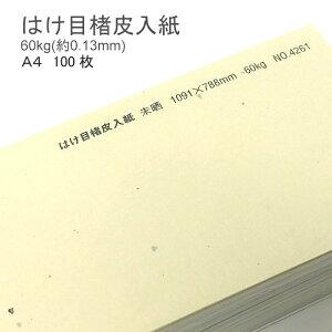 【 和紙 】 はけ目楮皮入紙 未晒 厚さ 60kg ( 0.13mm ) A4 100枚   和風 ナチュラル 柄 懐紙 遊び紙 書簡紙 メニュー 料理 掛け紙 ランチョンマット ブックカバー