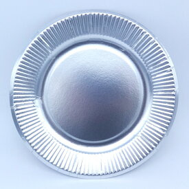 紙皿シルバー7号(18cm)100枚 パーティーでもどうぞ♪ おしゃれな使い捨て紙皿
