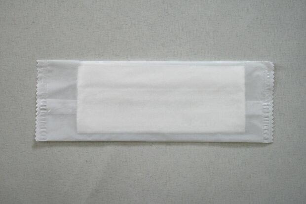 【あす楽対応】■平型 不織布おしぼり☆1200本入り☆ふわっと厚みあり 丈夫な紙おしぼり乳白フィルム5×16.5cm☆【送料無料】一部地域除く