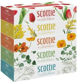 スコッティ (SCOTTIE) ティッシュペーパー フラワーボックス 320枚(160組)5箱×12パック(60箱) まとめ買い 送料無料