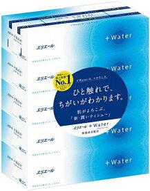大王製紙 エリエール +Water 360枚(180組)5箱×10パック 保湿ティッシュ まとめ買い 送料無料