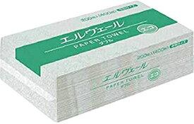 エルヴェール ペーパータオル エコダブル中判200組400枚×30パック まとめ買い 送料無料