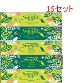 サラサ コンパクトボックスティッシュ300枚(150組)5箱×16セット 送料無料 まとめ買い