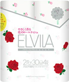 四国特紙 エルビラ バラの香り 4ロールダブル 24パック(1ケース12パック入り×2セット) まとめ買い 送料無料