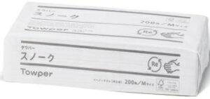 トライフ タウパースノークペーパータオル М 中判 200枚×35パック まとめ買い 送料無料