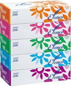 エルモア ティシュ 400枚(200組)5箱×12パック まとめ買い 送料無料