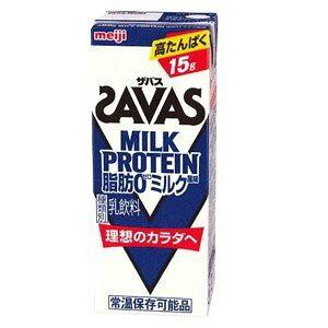 明治SAVAS ザバス ミルクプロテイン脂肪0 ミルク風味 200ml×24本入
