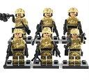 MODERN WAR TANカラー camo 6体武器フルセット レゴ カスタム キット LEGO パーツ アーミー