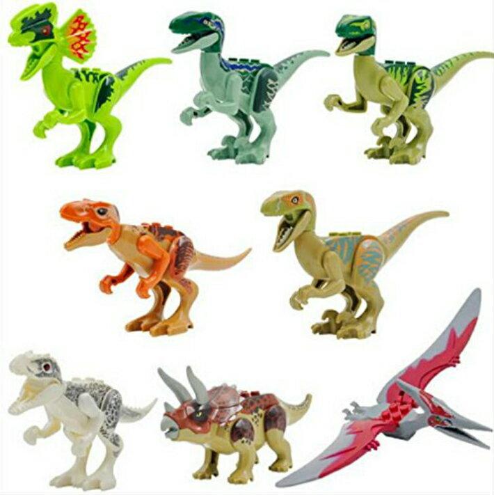 恐竜 8体セット ブロックカスタムセット