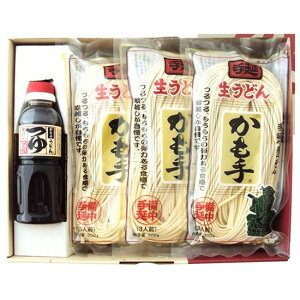 かも川 手延べ生うどん 麺つゆ付 うどん300g×7袋 麺つゆ300ml×1本 乾麺 RUS-5