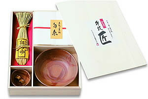 BZ-S 備前焼【白糸】素麺セット・つけつゆ付き (50g×6)×8袋 つけつゆ200ml