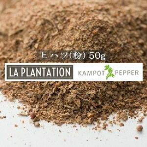 カンポット産 ヒハツ・長胡椒(パウダー) 50g : La Plantation Long Pepper Powder (LP-LPP050) カンボジア 長胡椒 ロングペッパー ヒハツ