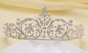 【ティアラ ウェディング 】 ブライダル アクセサリー ジュエリー髪飾り カチューシャ お姫様風