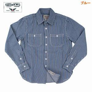メンズファッション ストラップ柄 長袖シャツ 男女兼用 レトロ風 アウター ★全2色