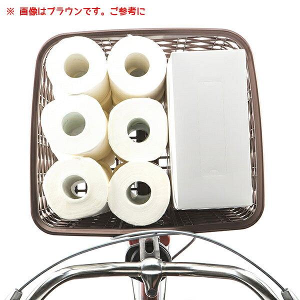 自転車かご大型NSCB216-Bガンメタ大きいフロントバスケット茶色樹脂製で丈夫な自転車前かご日本製