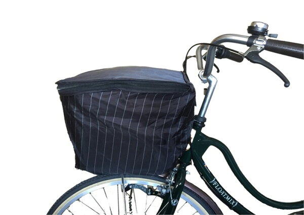 自転車カゴカバー前用大きいプリュイベニットアンサンブル前カゴカバー2段式ローズOF-PB23オリンパス