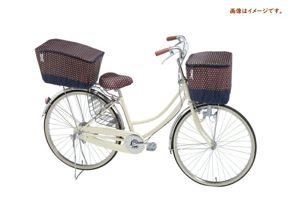 自転車カゴカバー前用前カゴカバー2段式ドットブラウン収納たっぷり撥水加工オリンパスモダンアートシリーズ