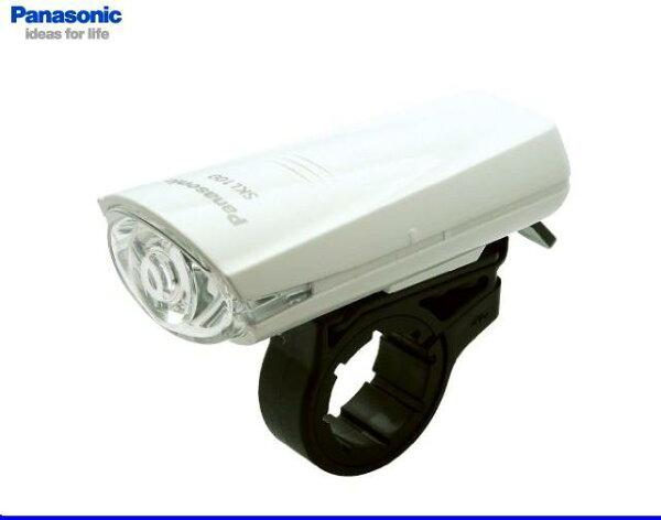 パナソニック高輝度白色LEDバッテリーライトPanasonicSKL100Wホワイト色JIS規格光度基準適合の自転車ライト!
