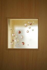 フュージング ガラス玉 ピンクパープル 18cm×18cm